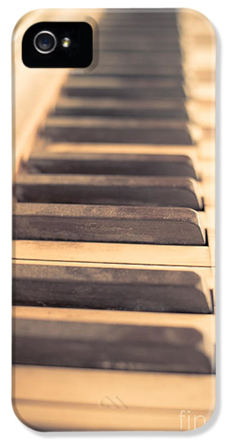 Piano IPhone 5 Case featuring the photograph Old Piano Keys by Edward Fielding