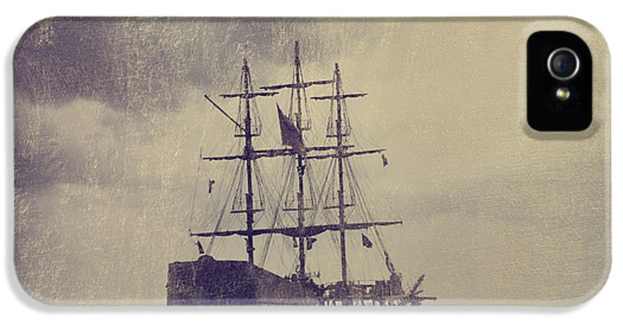 Ship IPhone 5 Case featuring the digital art Old Pirate Ship by Jelena Jovanovic