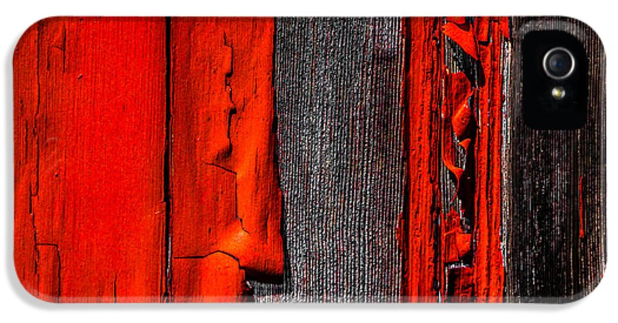 Abstract IPhone 5 Case featuring the photograph Old Red Barn One by Bob Orsillo