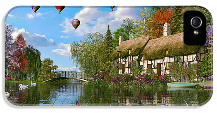 Victorian IPhone 5 Case featuring the digital art Old River Cottage by Dominic Davison