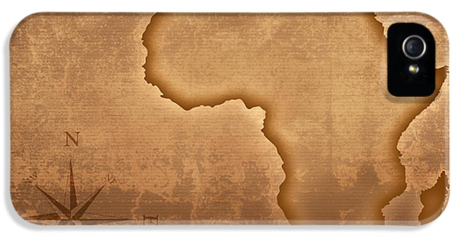 Africa IPhone 5 Case featuring the photograph Old Style Africa Map by Johan Swanepoel