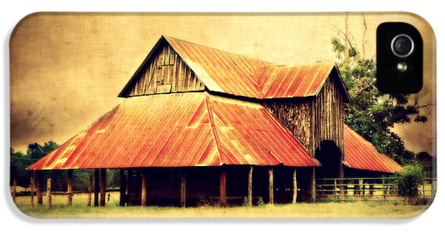 Barn IPhone 5 / 5s Case featuring the photograph Old Texas Barn by Julie Hamilton