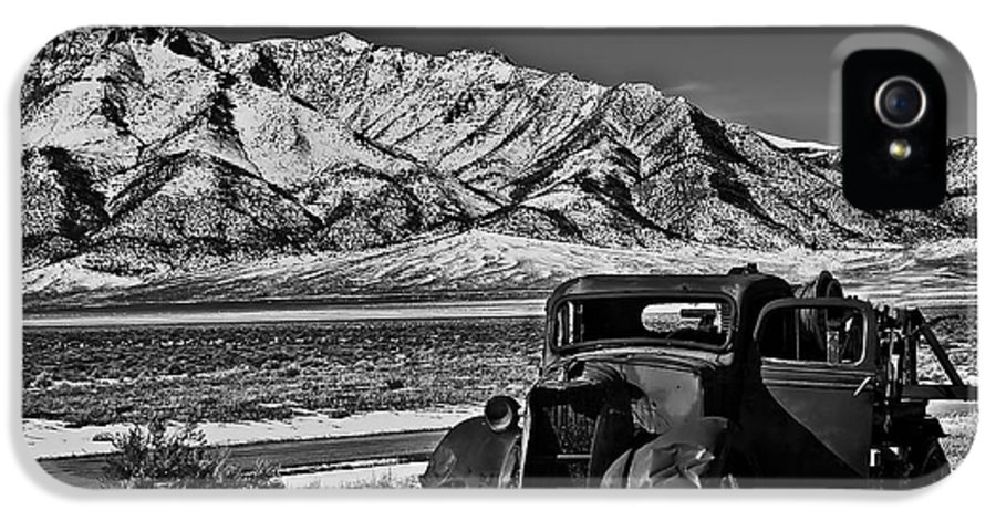 Black And White IPhone 5 Case featuring the photograph Old Truck by Robert Bales