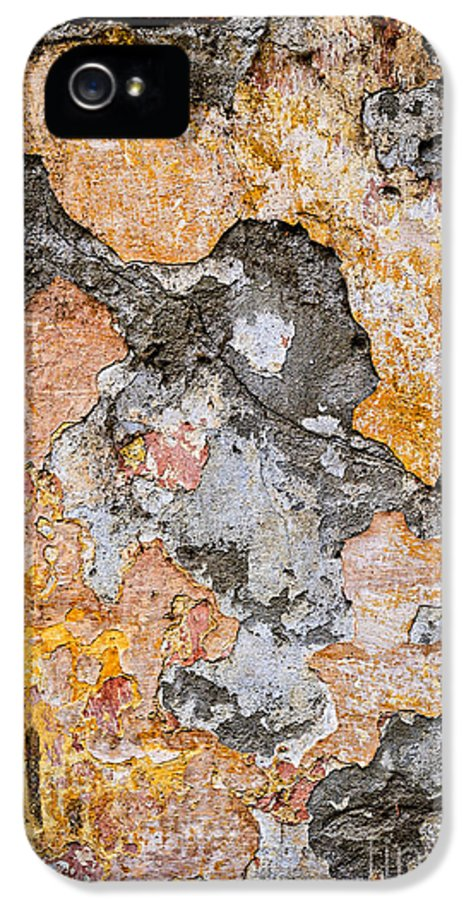 Wall IPhone 5 Case featuring the photograph Old Wall Abstract by Elena Elisseeva