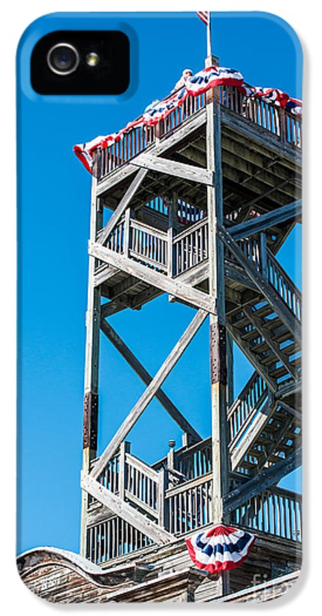 America IPhone 5 Case featuring the photograph Old Wooden Watchtower Key West by Ian Monk