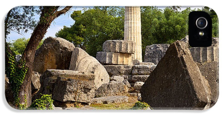 Ancient IPhone 5 Case featuring the photograph Olympus Ruins by Brian Jannsen