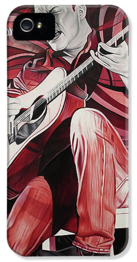 Dave Matthews IPhone 5 Case featuring the painting On Bended Knees by Joshua Morton