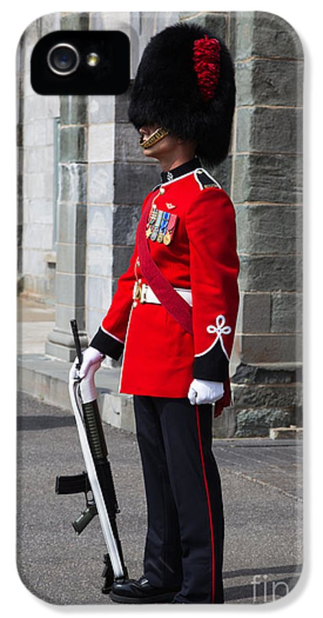 Quebec IPhone 5 Case featuring the photograph On Guard Quebec City by Edward Fielding