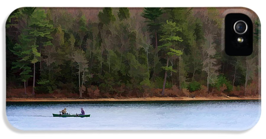 Walden Pond IPhone 5 Case featuring the photograph On Walden Pond by Jayne Carney