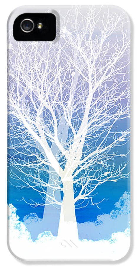 Tree IPhone 5 Case featuring the photograph Once Upon A Moon Lit Night... by Holly Kempe
