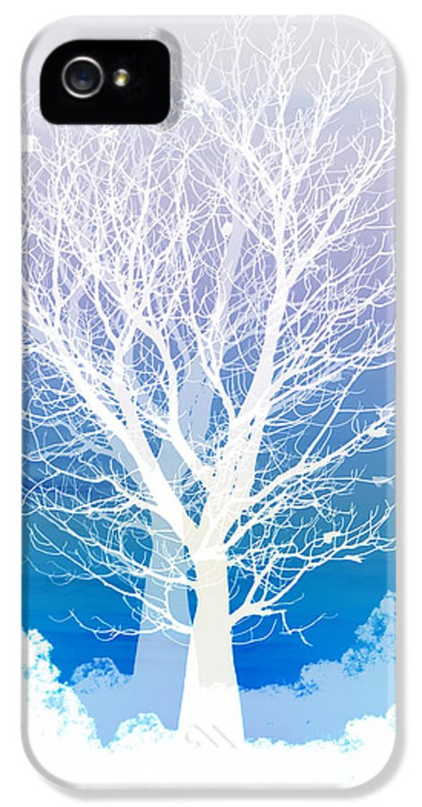 Tree IPhone 5 / 5s Case featuring the photograph Once Upon A Moon Lit Night... by Holly Kempe