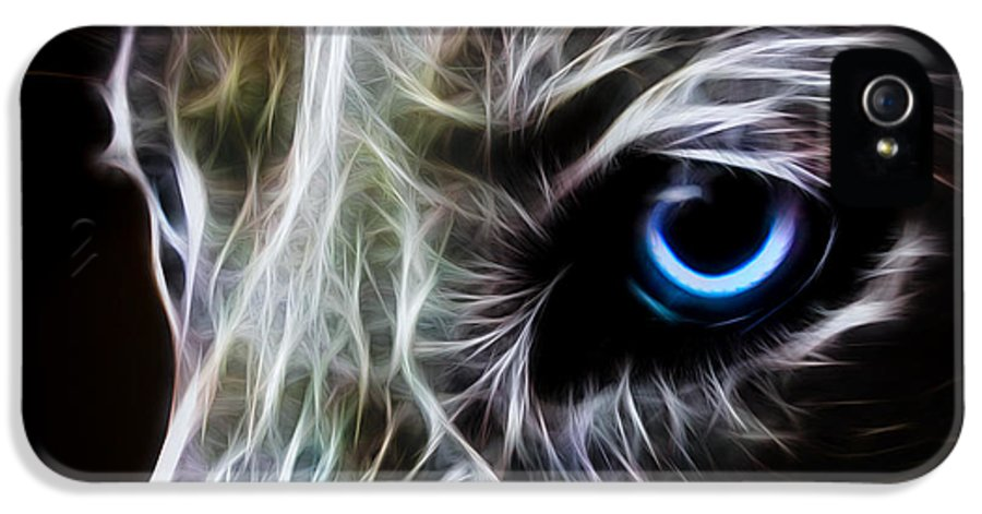 Wolf IPhone 5 Case featuring the digital art One Eye by Aged Pixel