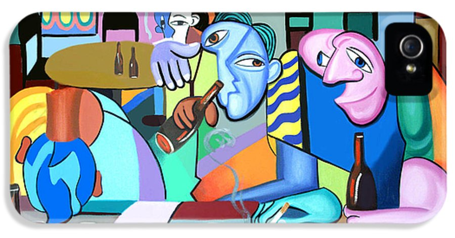 One For The Road IPhone 5 Case featuring the painting One For The Road by Anthony Falbo