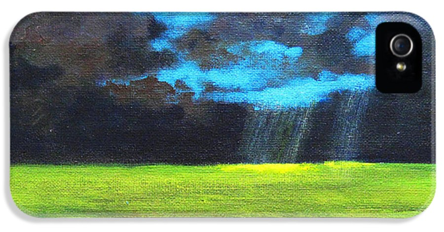 Poster IPhone 5 Case featuring the painting Open Field IIi by Patricia Awapara