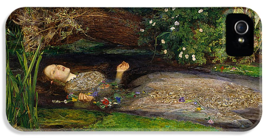 Ophelia IPhone 5 Case featuring the digital art Ophelia by John Everett Millais