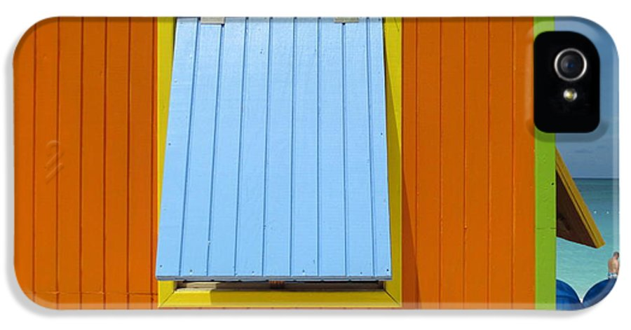 Caribbean Corner IPhone 5 Case featuring the photograph Orange Cabin by Randall Weidner
