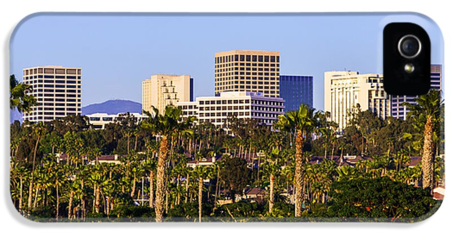 America IPhone 5 Case featuring the photograph Orange County California Office Buildings Picture by Paul Velgos