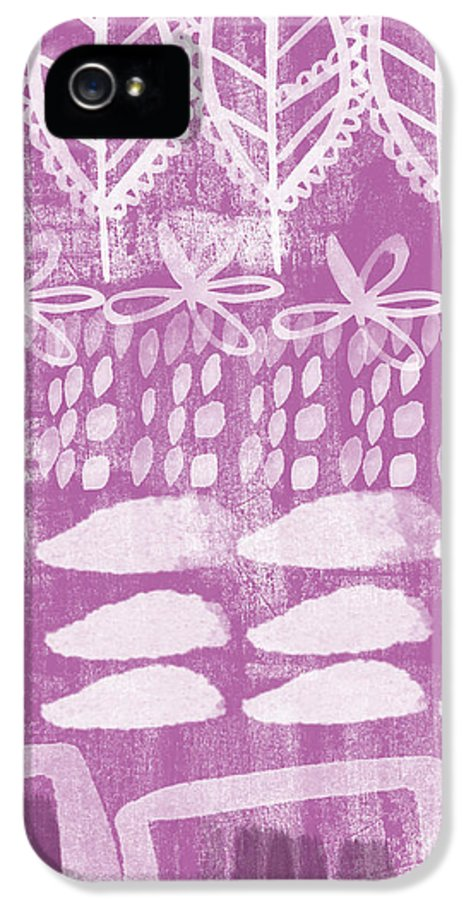 Radiant Orchid IPhone 5 Case featuring the painting Orchid Fields by Linda Woods