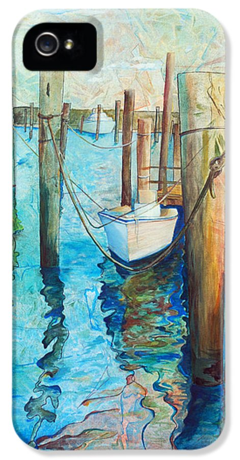 North Carolina IPhone 5 Case featuring the painting Oregon Inlet by Arlissa Vaughn