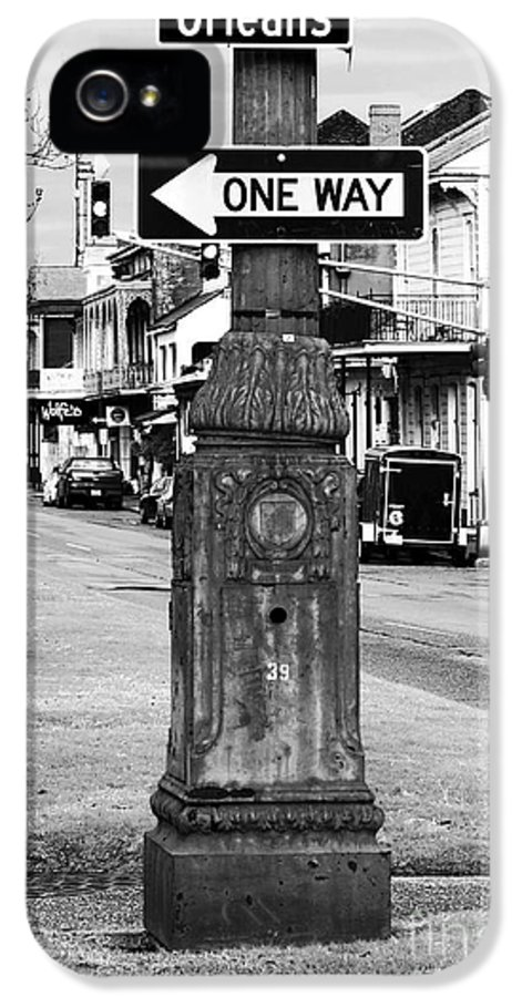 Orleans One Way IPhone 5 Case featuring the photograph Orleans One Way by John Rizzuto