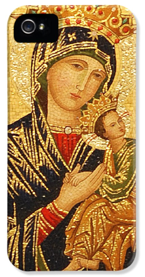 Our Lady IPhone 5 Case featuring the photograph Our Lady Of Perpetual Help by Philip Ralley