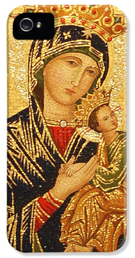 Our Lady IPhone 5 / 5s Case featuring the photograph Our Lady Of Perpetual Help by Philip Ralley