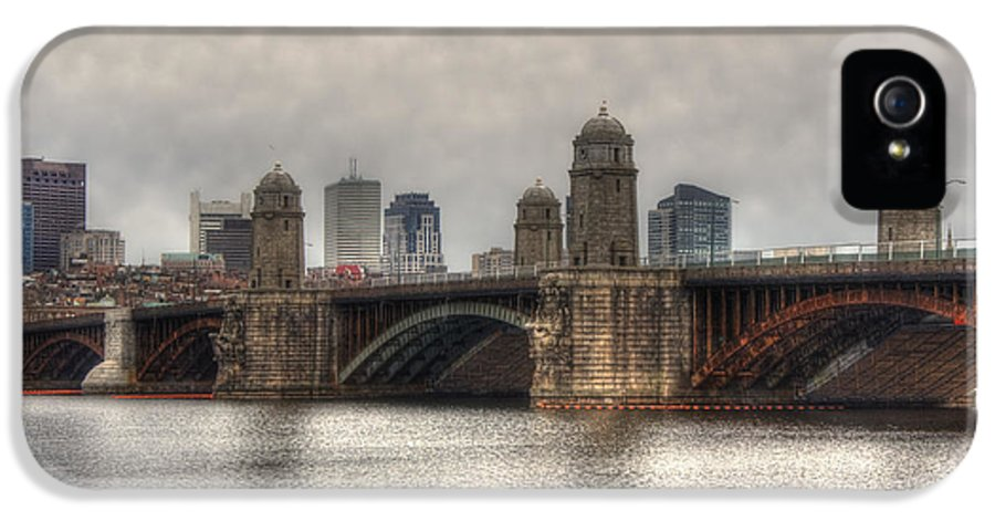 Massachusetts IPhone 5 Case featuring the photograph Overcast On The Longfellow by Joann Vitali