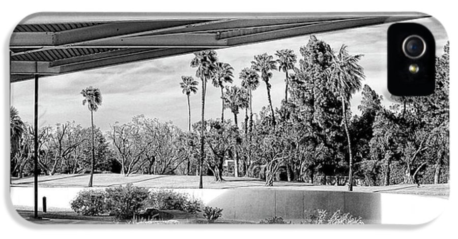 Palm Springs IPhone 5 Case featuring the photograph Overhang Bw Palm Springs by William Dey