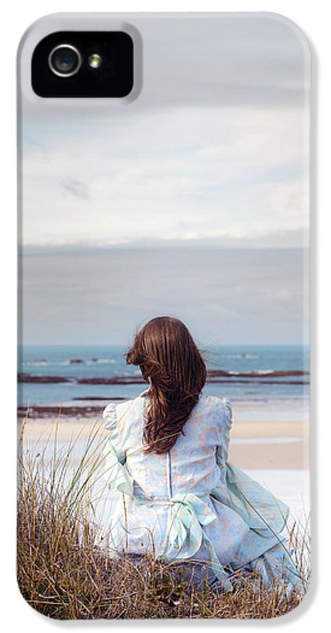 Woman IPhone 5 Case featuring the photograph Overlooking The Sea by Joana Kruse