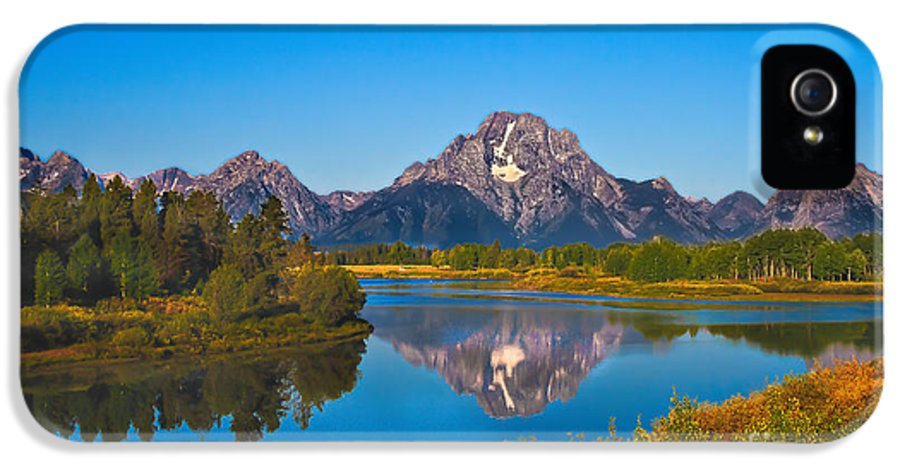 Grand Teton IPhone 5 Case featuring the photograph Oxbow Bend II by Robert Bales