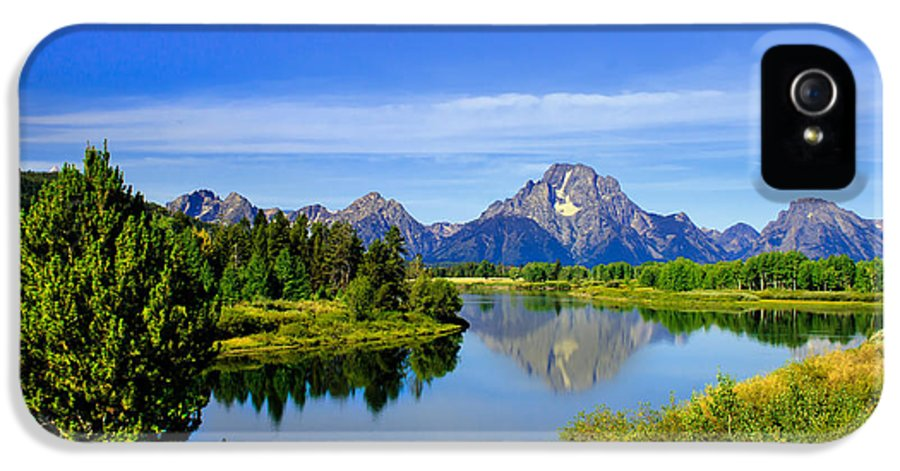 Grand Teton IPhone 5 Case featuring the photograph Oxbow Bend by Robert Bales