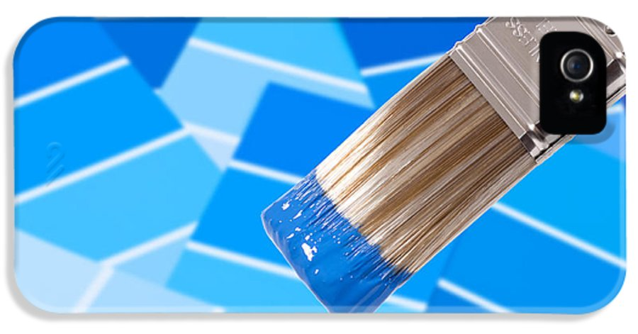 Paint IPhone 5 Case featuring the photograph Paint Brush - Blue by Amanda Elwell
