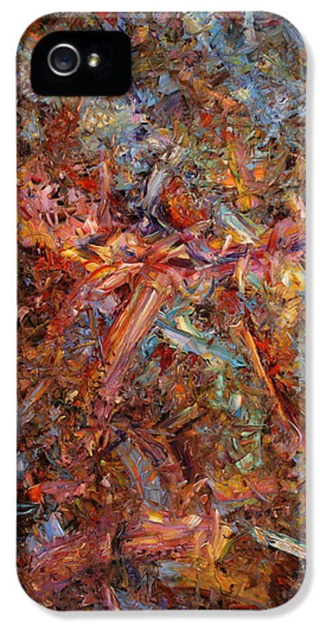 Abstract IPhone 5 Case featuring the painting Paint Number 43 by James W Johnson