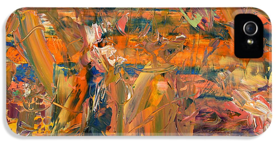 Abstract IPhone 5 Case featuring the painting Paint Number 45 by James W Johnson