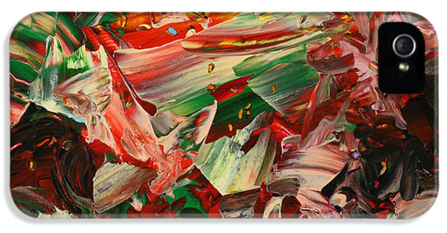 Abstract IPhone 5 Case featuring the painting Paint Number 48 by James W Johnson