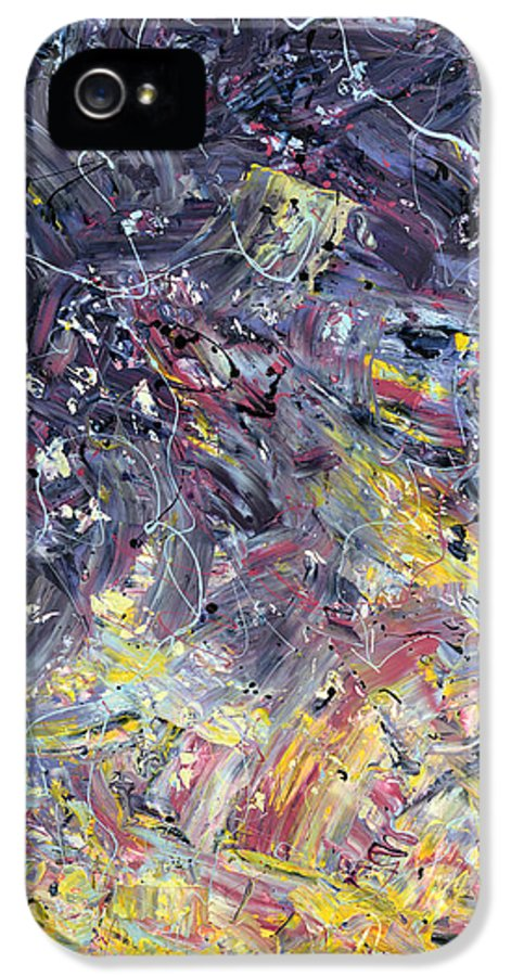 Abstract IPhone 5 Case featuring the painting Paint Number 55 by James W Johnson