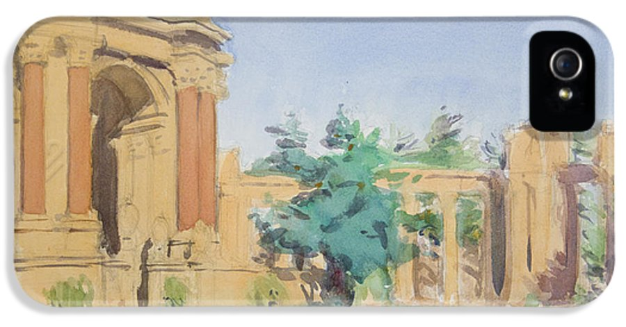 San Francisco IPhone 5 Case featuring the painting Palace Of Fine Arts by Walter Lynn Mosley