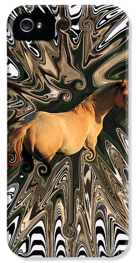 Abstract IPhone 5 Case featuring the photograph Pale Horse by Aidan Moran