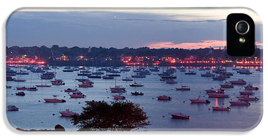 Marblehead Harbor IPhone 5 Case featuring the photograph Panoramic Of The Marblehead Illumination by Jeff Folger