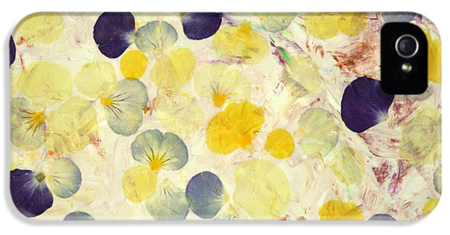 Pansies IPhone 5 Case featuring the painting Pansy Petals by James W Johnson