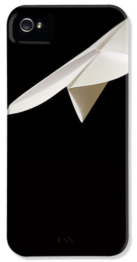 Flying IPhone 5 Case featuring the photograph Paper Airplane by Edward Fielding