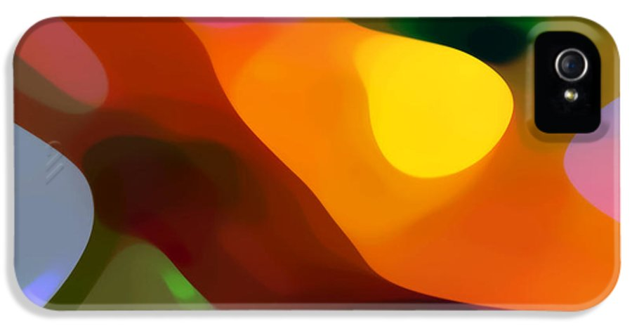 Abstract Art IPhone 5 Case featuring the painting Paradise Found 2 by Amy Vangsgard