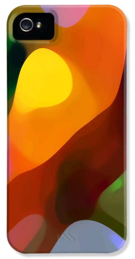Abstract Art IPhone 5 Case featuring the painting Paradise Found 2 Tall by Amy Vangsgard