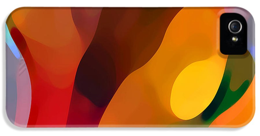 Abstract Art IPhone 5 Case featuring the painting Paradise Found 3 by Amy Vangsgard