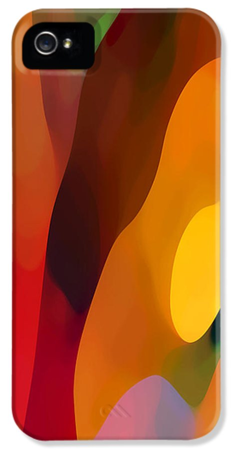 Abstract Art IPhone 5 Case featuring the painting Paradise Found 3 Tall by Amy Vangsgard