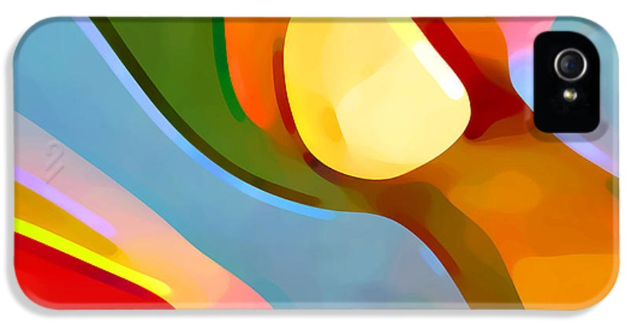 Abstract Art IPhone 5 Case featuring the painting Paradise Found 4 by Amy Vangsgard