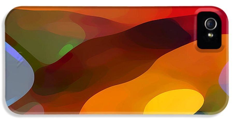 Abstract IPhone 5 / 5s Case featuring the painting Paradise Found by Amy Vangsgard