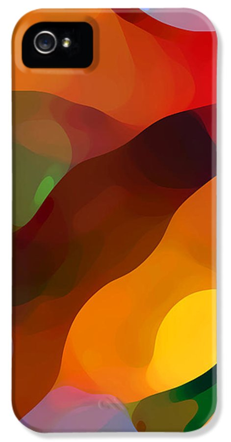 Abstract Art IPhone 5 Case featuring the painting Paradise Found Tall by Amy Vangsgard