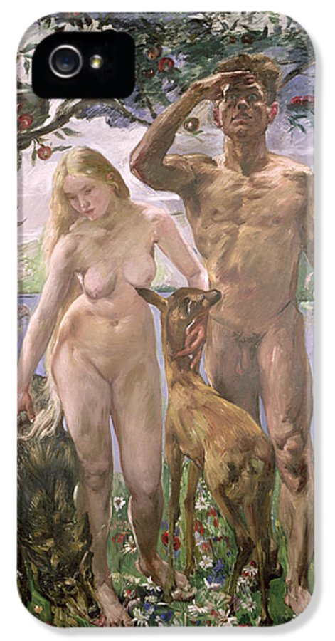 Eve IPhone 5 Case featuring the painting Paradise by Lovis Corinth