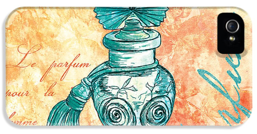 Perfume IPhone 5 Case featuring the painting Parfum by Debbie DeWitt